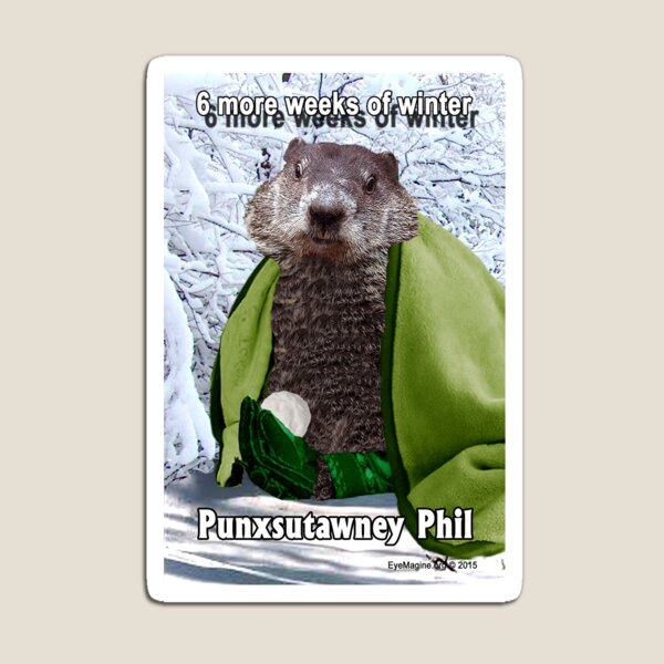 Groundhog Day Magnet