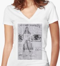 Fashion X-ray in Lavender Women's Fitted V-Neck T-Shirt