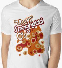 """Uh oh"" Spaghetti O's Men's V-Neck T-Shirt"