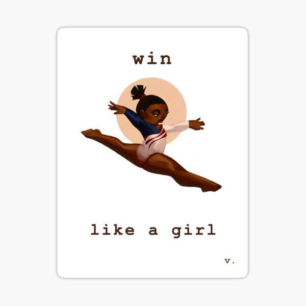 Win Like a Girl Sticker