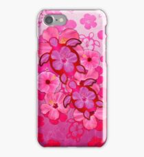 Pink Hibiscus And Honu Turtles iPhone Case/Skin