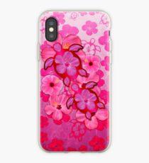 Pink Hibiscus And Honu Turtles iPhone Case