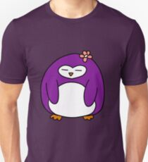 Purple Flower Penguin Unisex T-Shirt
