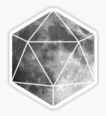 D20 - Moon Sticker