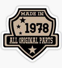 Made In 1978 All Original Parts Sticker