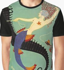 "Erte's Beautiful Art Deco Design ""Water"" Graphic T-Shirt"
