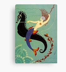 "Erte's Beautiful Art Deco Design ""Water"" Canvas Print"