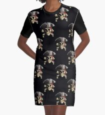 Classic Pirate Skull And Crossbones Graphic T-Shirt Dress