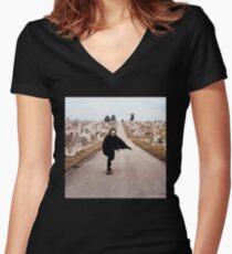 SKULLnSKATEBOARDS Women's Fitted V-Neck T-Shirt