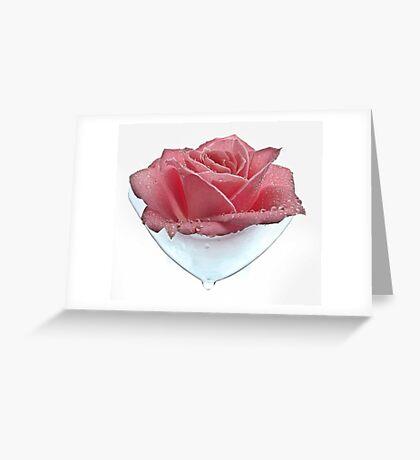 Rose Tear Greeting Card