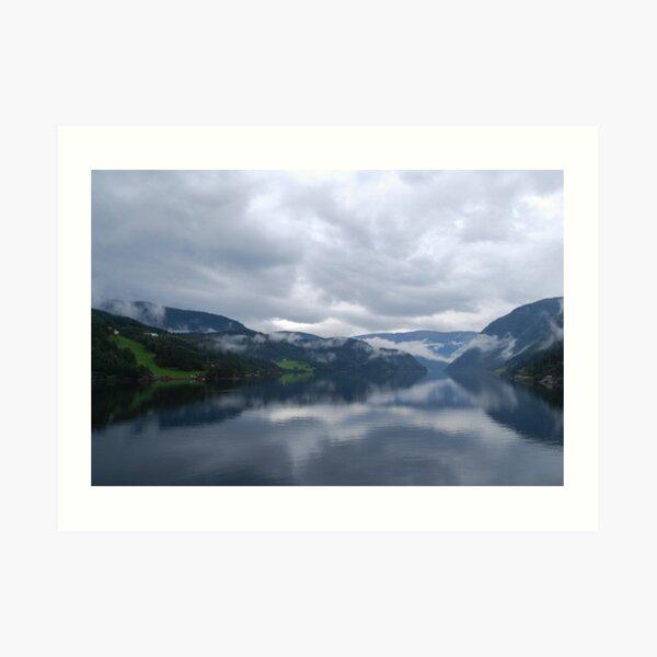 Norwegian Fjord Art Print