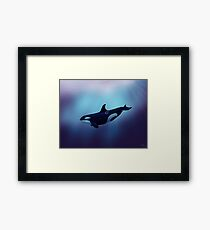 """""""Lost in Fantasy"""" ~ orca / killer whale art by Amber Marine Framed Print"""