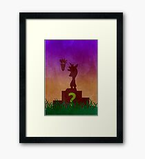 Crash Bandicoot Minimalist Art Framed Print