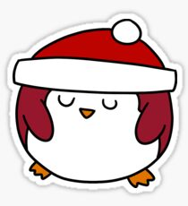 Fat Round Penguin Sticker