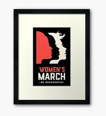 Official women's  march on washington  Framed Print