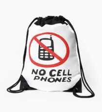 NO CELL PHONES Drawstring Bag