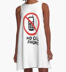 NO CELL PHONES A-Line Dress