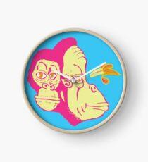 Electric Banana Monkey Pattern Clock