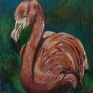 Pretty Flamingo by Tricia Winwood