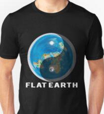 Flat Earth Yin and Yang  T-Shirt