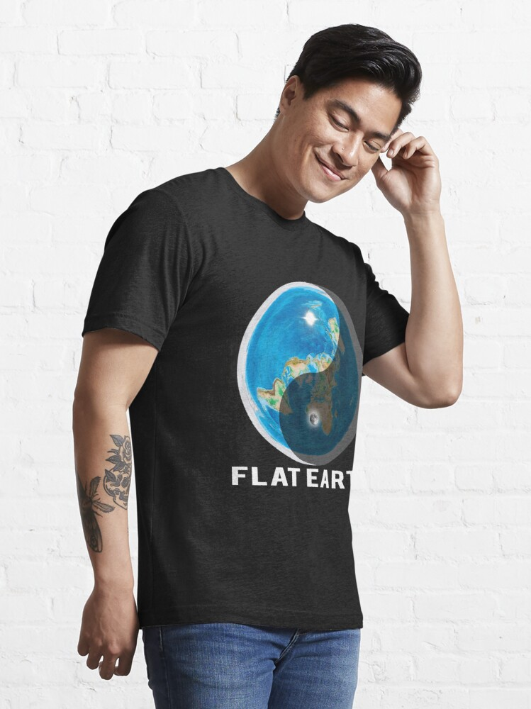 Alternate view of Flat Earth Yin and Yang  Essential T-Shirt