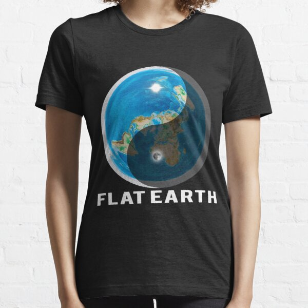 Flat Earth Yin and Yang  Essential T-Shirt