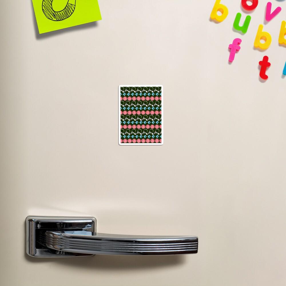 NDVH Retro-Litter Stripes Magnet
