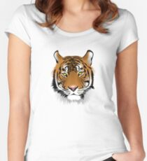 Hypnotic Bengal Tiger Women's Fitted Scoop T-Shirt