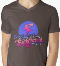Everything is Satisfactual Men's V-Neck T-Shirt