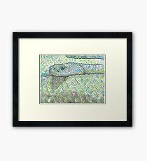 Snake watercolor study Framed Print