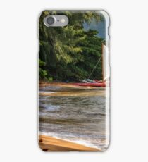 A sailboat In Hanalei Bay iPhone Case/Skin