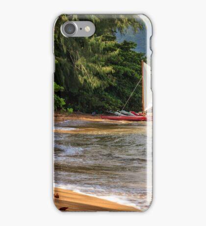 A sailboat In Hanalei Bay iPhone Case/Skin
