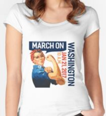 Womens march on washington 2017 Women's Fitted Scoop T-Shirt