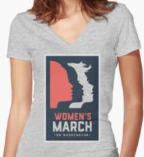 Women's march on washington 2017 Women's Fitted V-Neck T-Shirt