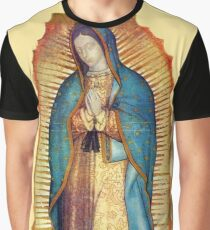 Our Lady of Guadalupe Virgin Mary Tilma Replica Graphic T-Shirt