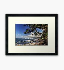 The Beach At Kapaa Framed Print