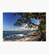 The Beach At Kapaa Photographic Print