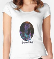 Greyhound Magic Women's Fitted Scoop T-Shirt