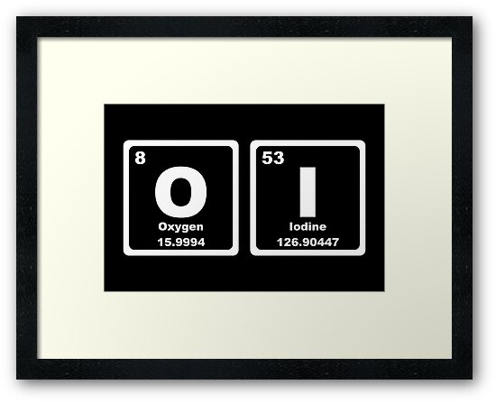 Oi periodic table framed prints by graphix redbubble oi periodic table by graphix urtaz Gallery
