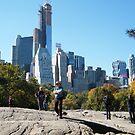 View of Central Park South Skyline, One57 Skyscraper, New York City by lenspiro