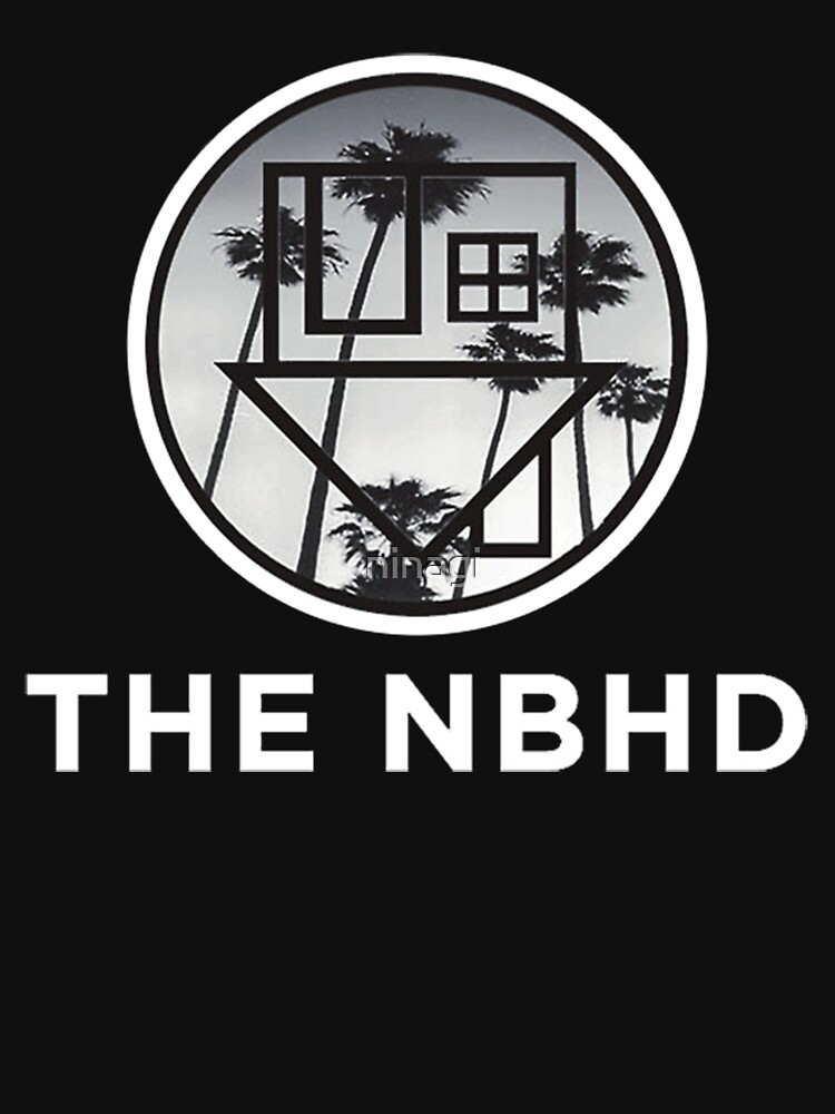 The Neighbourhood Palm Tree Print The NBHD Band Shirt White | Unisex T-Shirt
