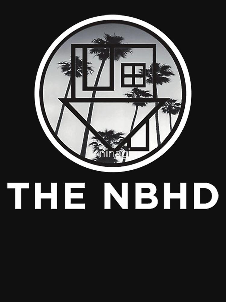 The Neighbourhood Palm Tree Print The NBHD Band Shirt White | Unisex T-Shirt