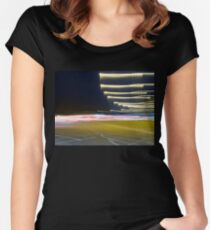 Freeway blur Women's Fitted Scoop T-Shirt