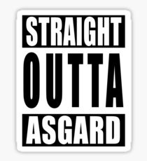 Straight Outta Asgard Sticker