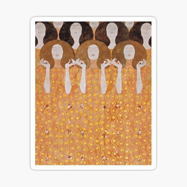 Beethoven Frieze by Gustav Klimt Sticker