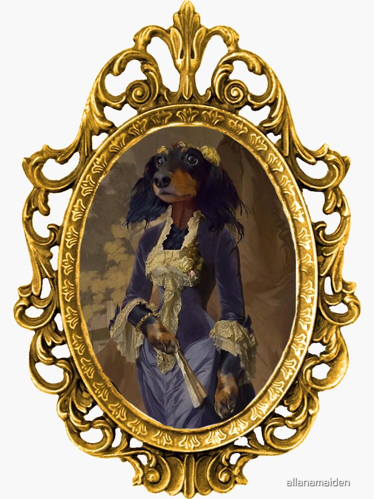 Elegant Dachshund Framed by allanamaiden
