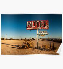 Abandoned Desert Motel Sign Poster