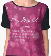 Moxie Definition - Pink Bokeh Sparkles Chiffon Top