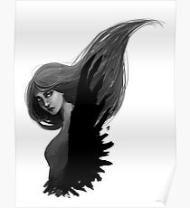 her raven wings Poster