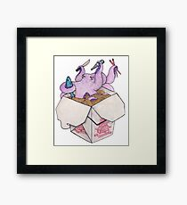"TAKE OUT FOR ""ATE"" Framed Print"